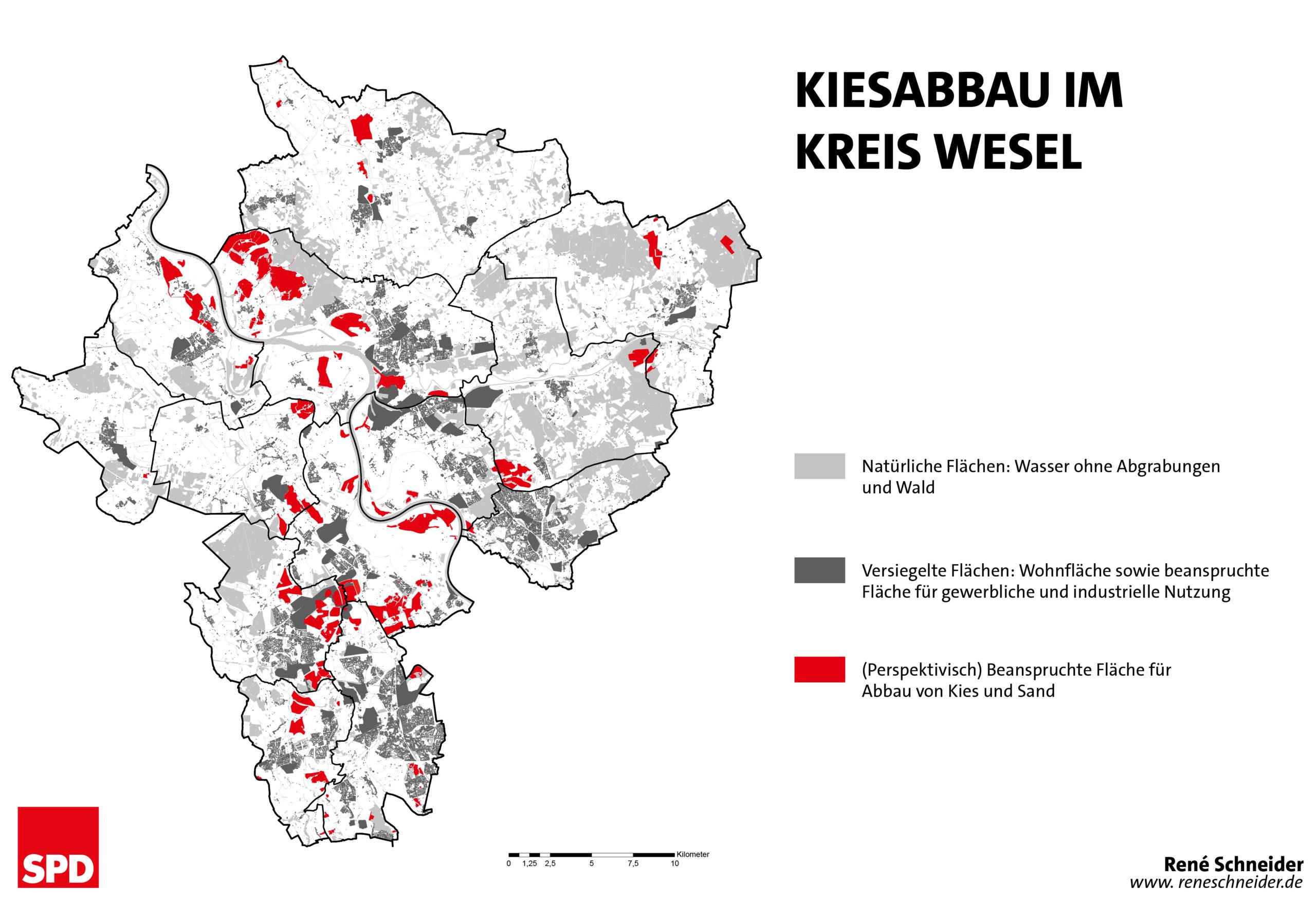 Kiesabbau im Kreis Wesel